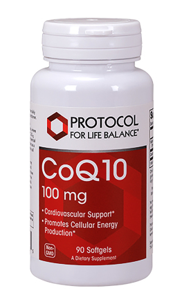 CoQ10 100mg by Protocol for Life Balance 90 softgel capsules