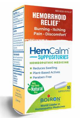 HemCalm® Suppositories by Boiron Homeopathics 12 suppositories