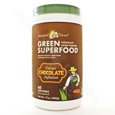 Chocolate Green SuperFood Powder by Amazing Grass- 60 Servings
