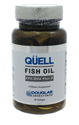 Quell Fish Oil EPA/DHA plus Vitamin D by Douglas Labs 30 capsules